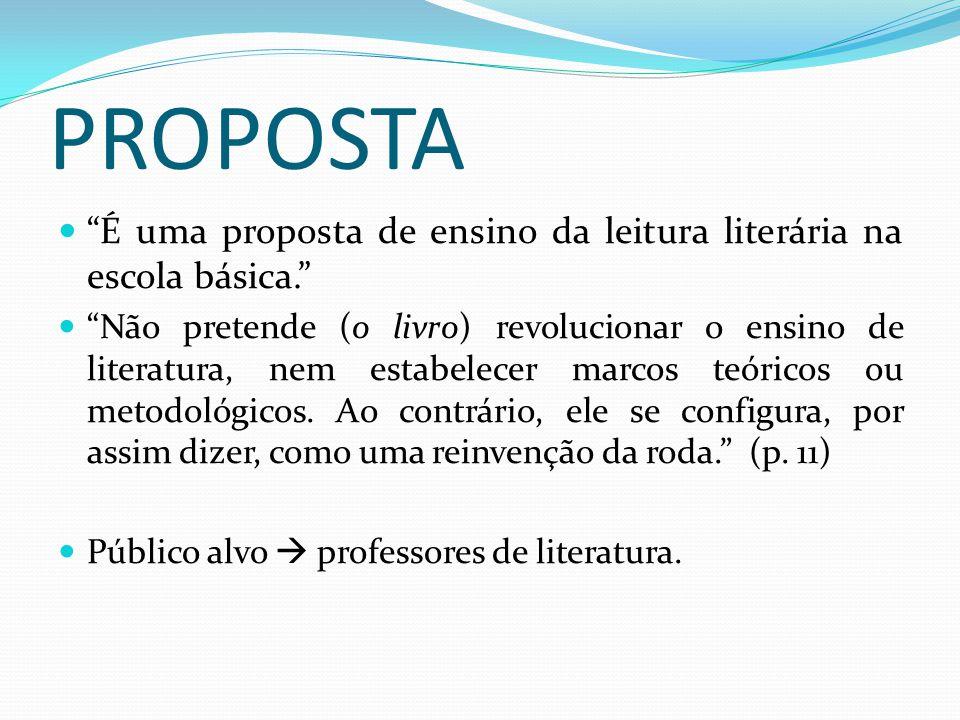 Por que denominar a proposta de letramento literário.