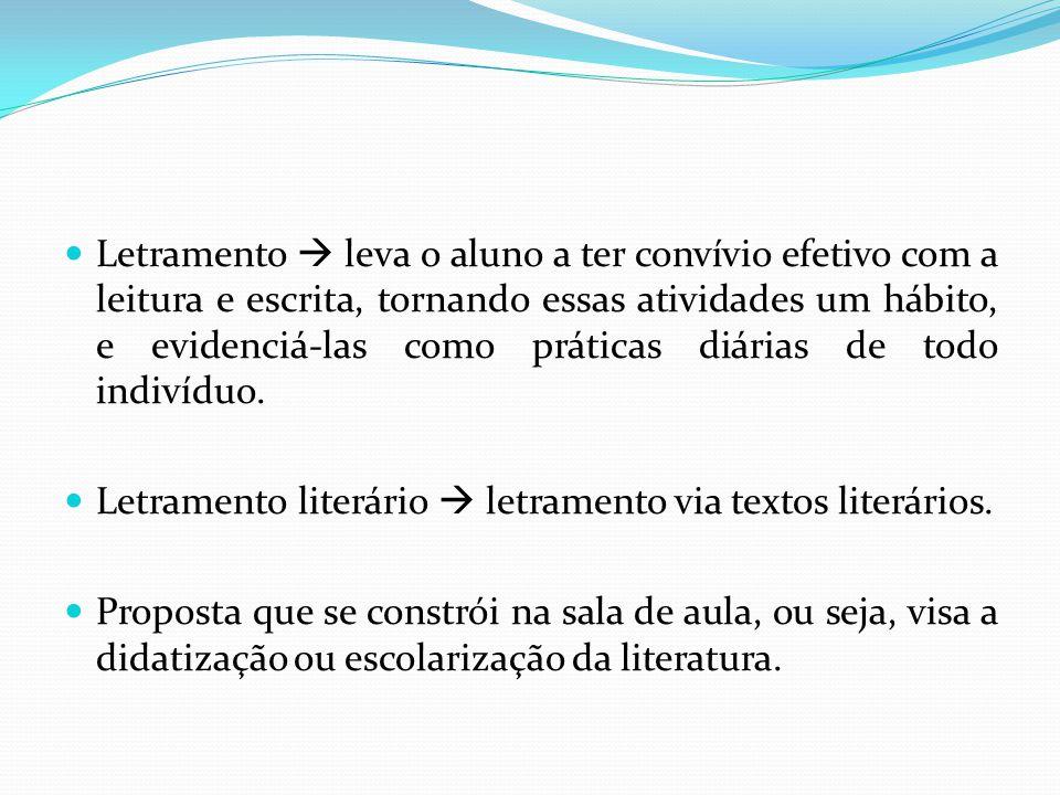 Cosson propõe a combinação dos três critérios de seleção de textos.