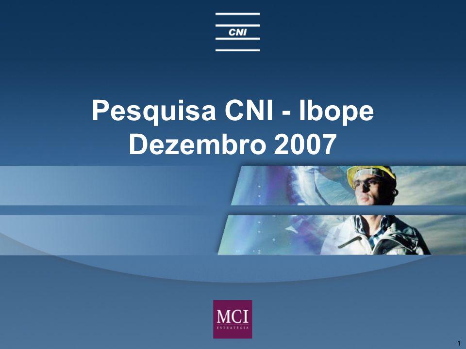 1 Pesquisa CNI - Ibope Dezembro 2007