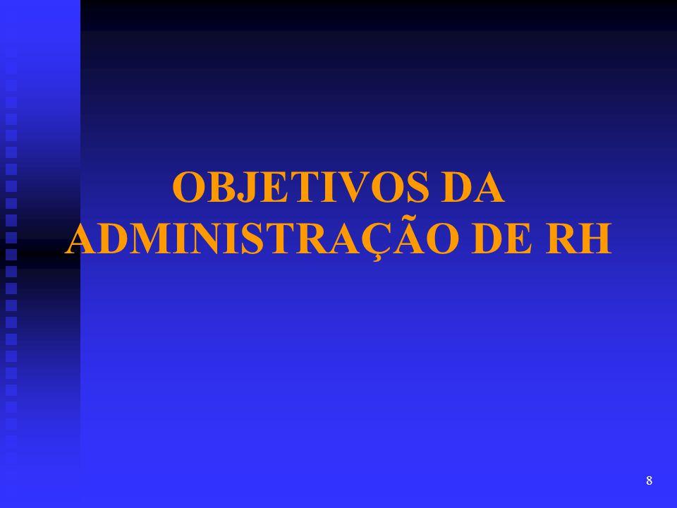 OBJETIVOS DA ADMINISTRAÇÃO DE RH 8