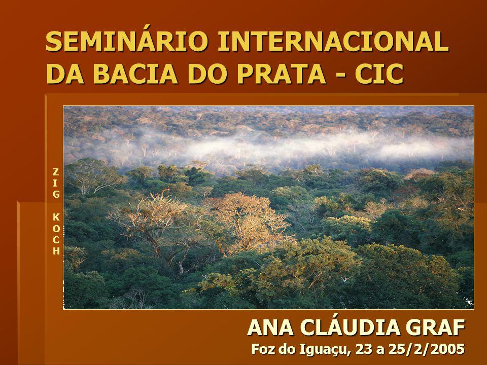 ANA CLÁUDIA GRAF Foz do Iguaçu, 23 a 25/2/2005 SEMINÁRIO INTERNACIONAL DA BACIA DO PRATA - CIC ZIG KOCHZIG KOCH
