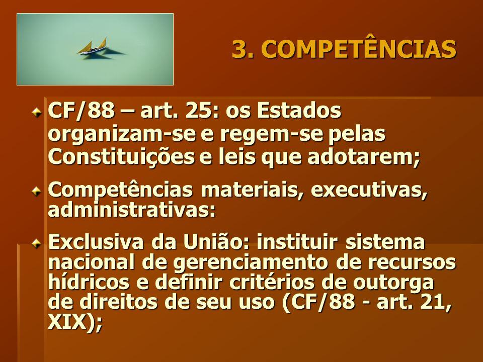 3. COMPETÊNCIAS CF/88 – art.