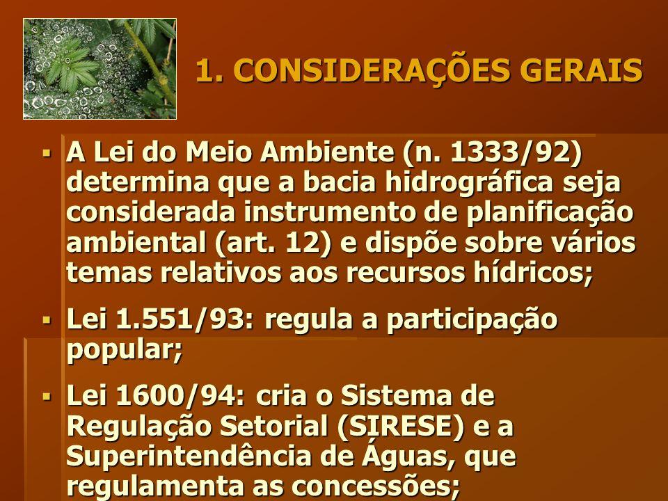 1. CONSIDERAÇÕES GERAIS  A Lei do Meio Ambiente (n.