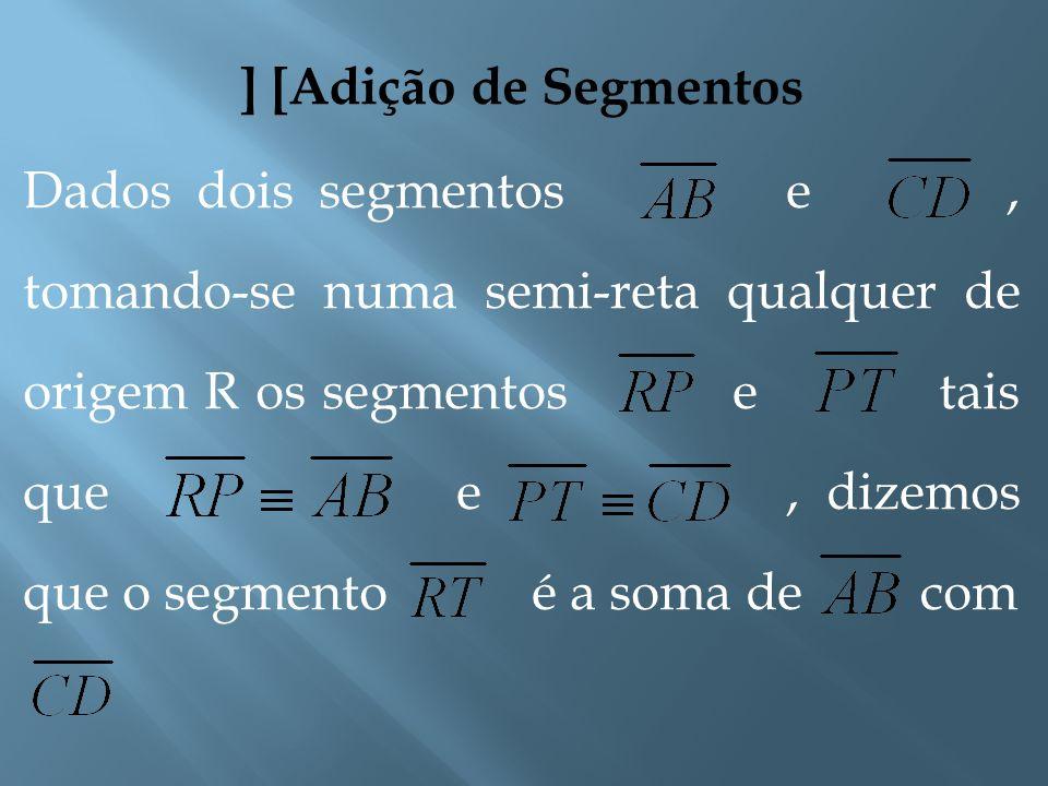 [Segmentos Adjacentes] Dois segmentos de reta são adjacentes se são consecutivos e colineares, e não possuem pontos internos em comum. TR S P NM