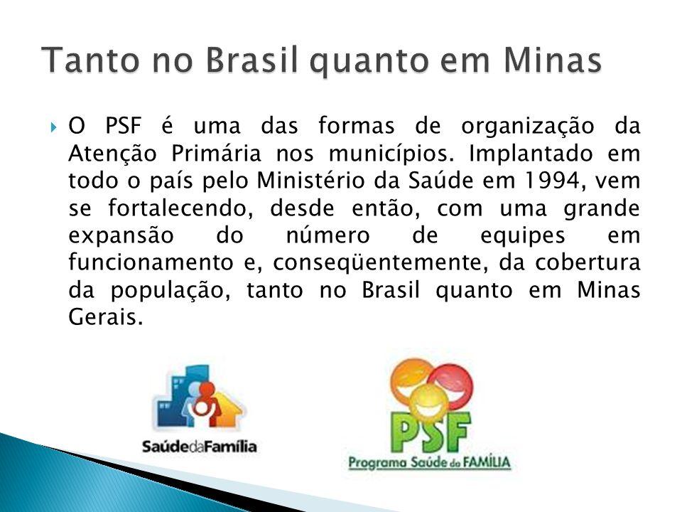  O PSF é uma das formas de organização da Atenção Primária nos municípios. Implantado em todo o país pelo Ministério da Saúde em 1994, vem se fortale