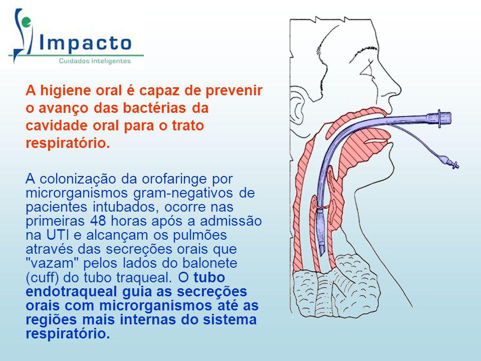 A higiene oral é capaz de prevenir o avanço das bactérias da cavidade oral para o trato respiratório. A colonização da orofaringe por microrganismos g