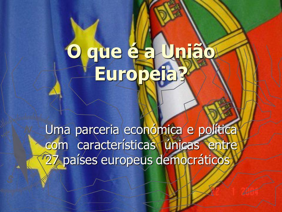 O que é a União Europeia? Uma parceria económica e política com características únicas entre 27 países europeus democráticos
