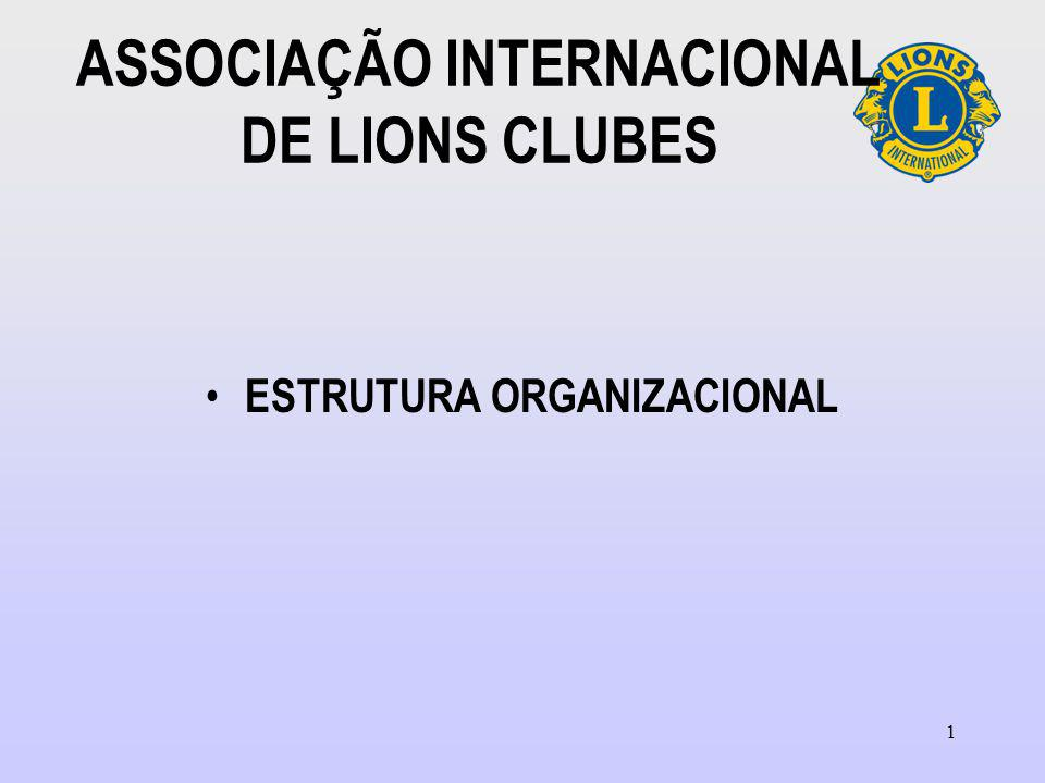 1 ASSOCIAÇÃO INTERNACIONAL DE LIONS CLUBES ESTRUTURA ORGANIZACIONAL