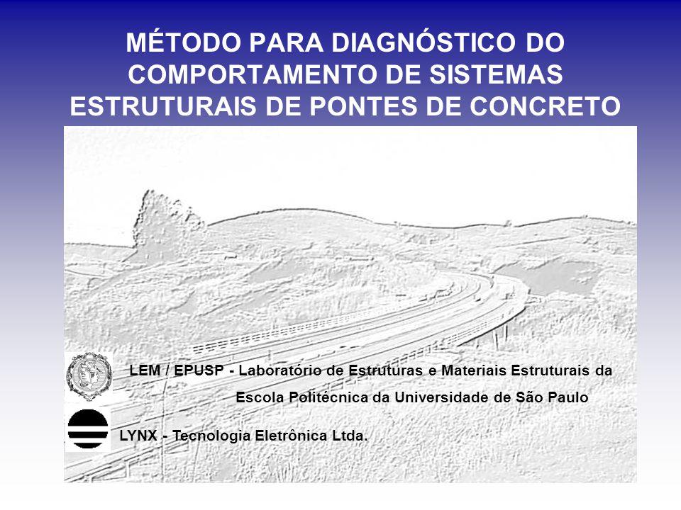 MÉTODO PARA DIAGNÓSTICO DO COMPORTAMENTO DE SISTEMAS ESTRUTURAIS DE PONTES DE CONCRETO LEM / EPUSP - Laboratório de Estruturas e Materiais Estruturais da Escola Politécnica da Universidade de São Paulo LYNX - Tecnologia Eletrônica Ltda.