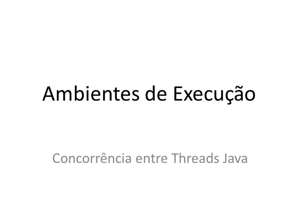 Ambientes de Execução Concorrência entre Threads Java