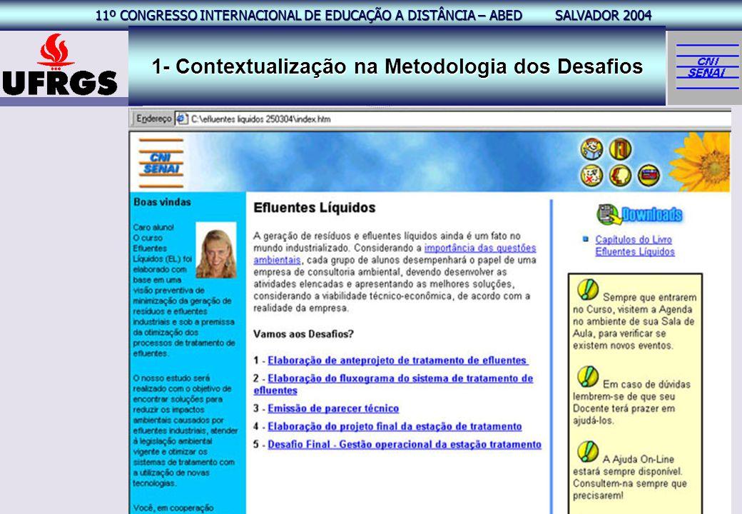 11º CONGRESSO INTERNACIONAL EAD – ABED SALVADOR 2004 11º CONGRESSO INTERNACIONAL DE EDUCAÇÃO A DISTÂNCIA – ABED SALVADOR 2004 17 1- Contextualização n