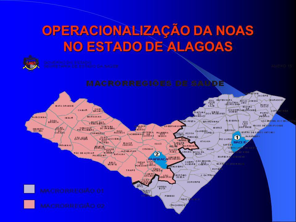 OPERACIONALIZAÇÃO DA NOAS NO ESTADO DE ALAGOAS