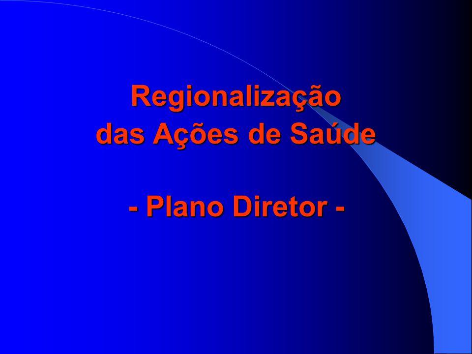 PLANO DIRETOR DE REGIONALIZAÇÃO - PDR PLANO DIRETOR DE REGIONALIZAÇÃO - PDR Município-sede de módulo assistencial  É habilitado na condição de Gestão Plena do Sistema Municipal (NOAS).