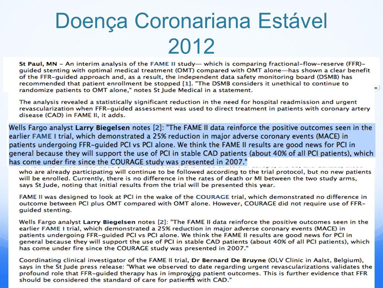 Doença Coronariana Estável 2012 22