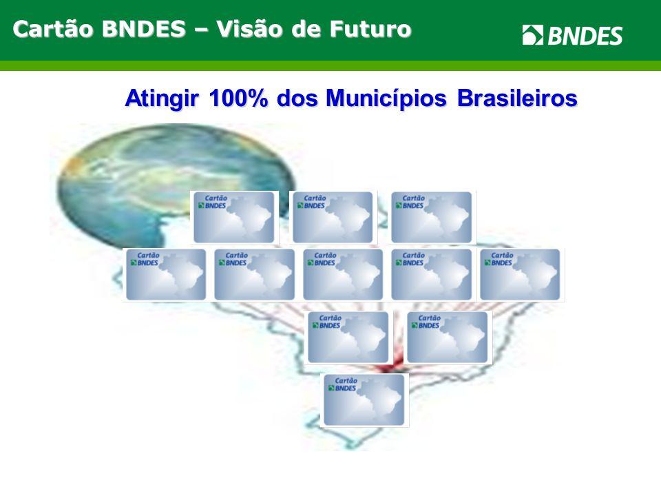 Cartão BNDES – Visão de Futuro Atingir 100% dos Municípios Brasileiros