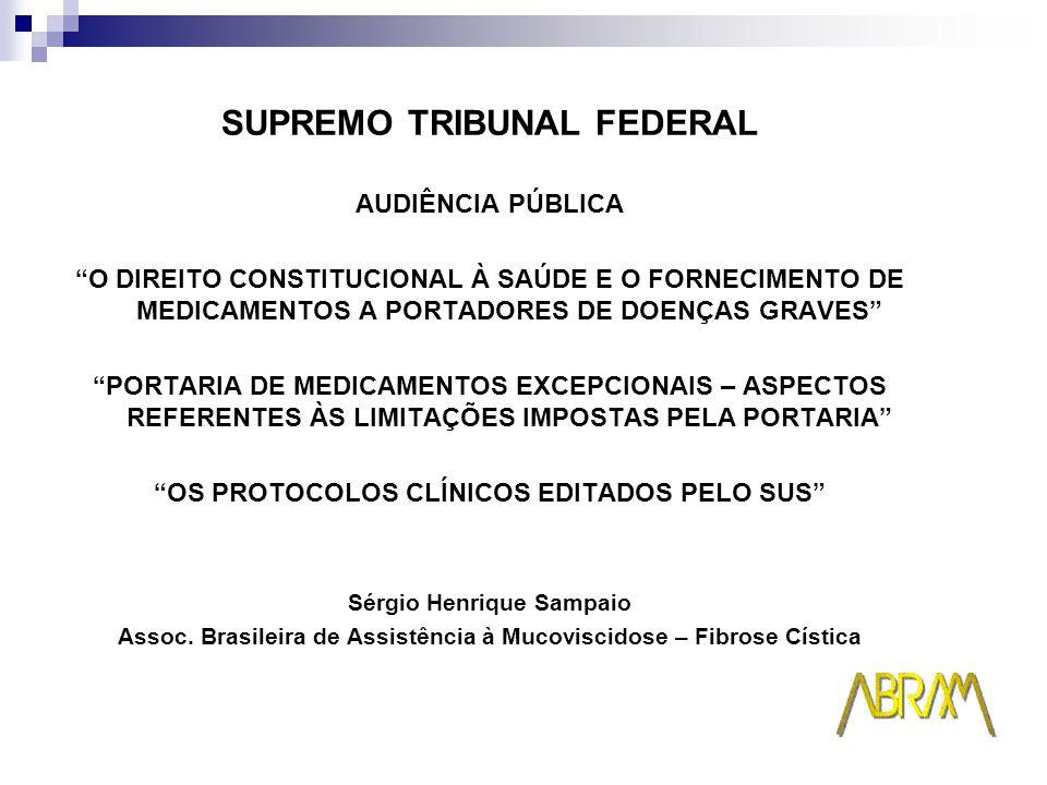 CARTA DE PORTO ALEGRE RELATÓRIO DO SEMINÁRIO O SUS, O Judiciário e o Acesso aos Medicamentos Excepcionais 9 e 10 de julho de 2005 Porto Alegre Primeira Mesa Judicialização dos Medicamentos Excepcionais Dr.