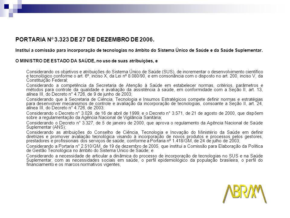 PORTARIA Nº 3.323 DE 27 DE DEZEMBRO DE 2006.