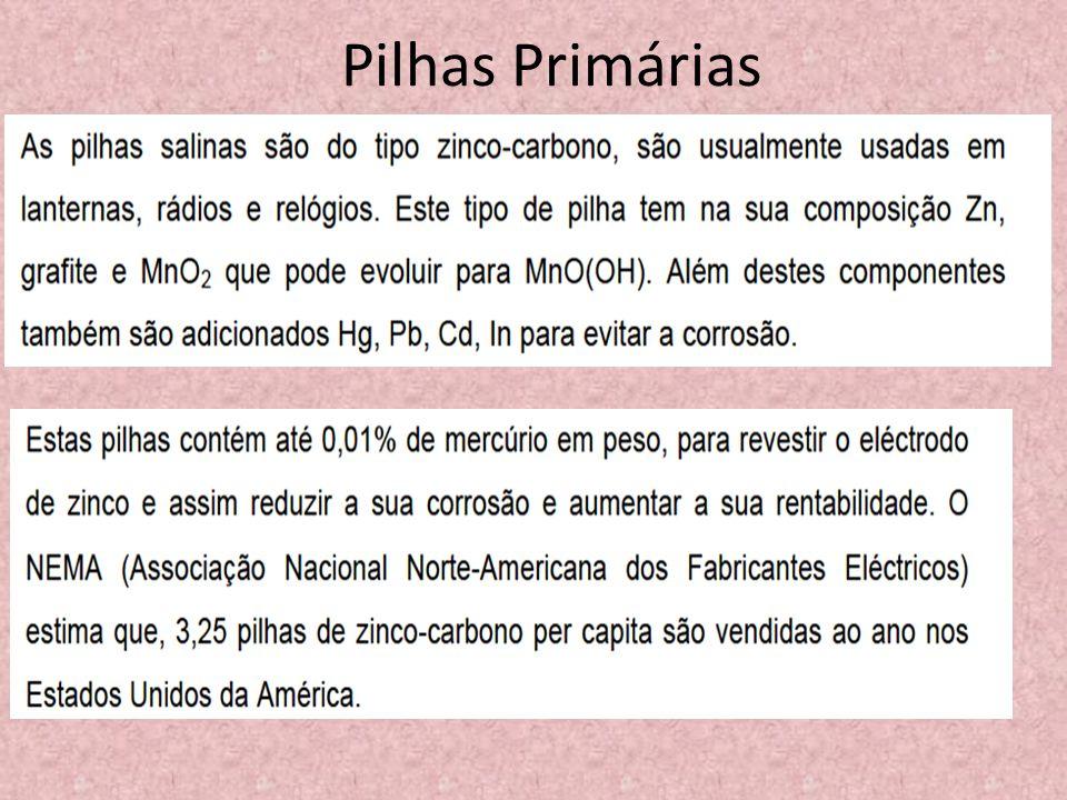 Pilhas Primárias