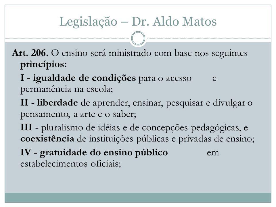Legislação – Dr.Aldo Matos Art. 206.