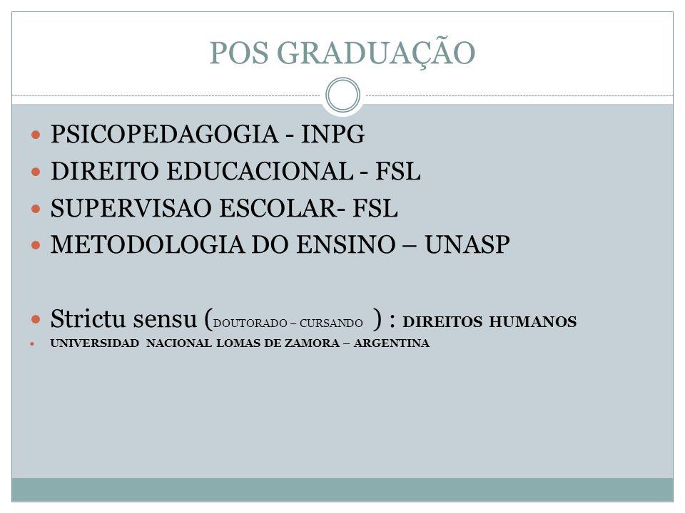 FORMAÇÃO TECNICA ADMINISTRAÇÃO – CENTRO PAULA SOUZA INFORMATICA – IFSP – INSTITUTO FEDERAL DE SÃO PAULO PROJETOS - FATEC-SP – NÃO CONCLUSO
