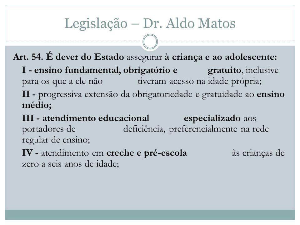 Legislação – Dr.Aldo Matos Art. 54.