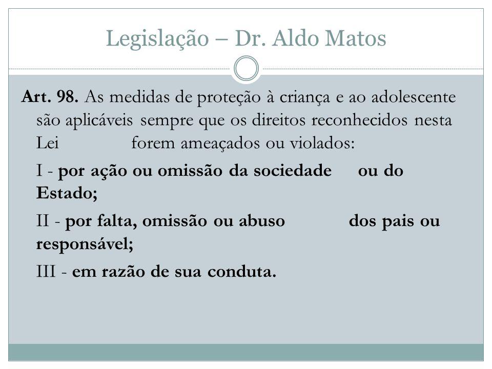 Legislação – Dr.Aldo Matos Art. 98.