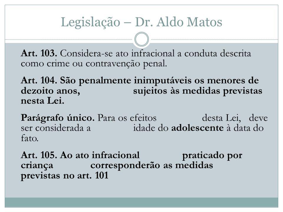 Legislação – Dr.Aldo Matos Art. 103.