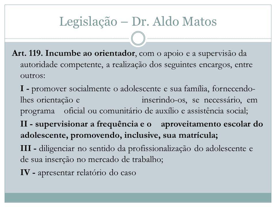 Legislação – Dr.Aldo Matos Art. 119.