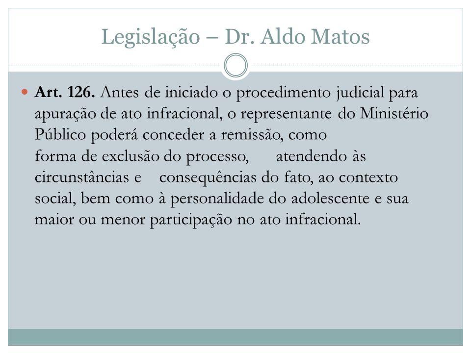 Legislação – Dr.Aldo Matos Art. 126.