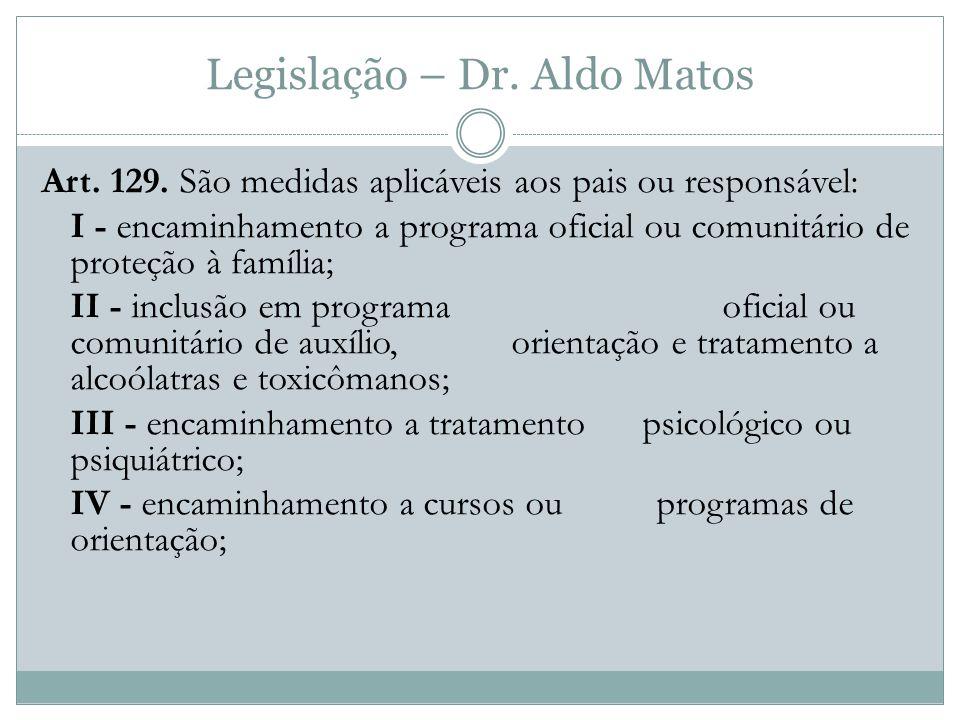 Legislação – Dr.Aldo Matos Art. 129.