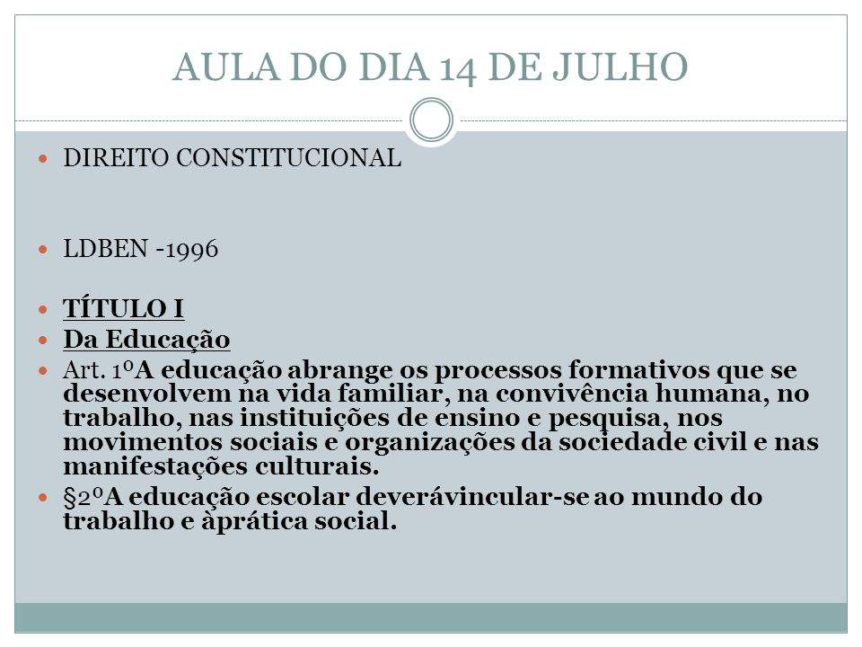 Legislação – Dr.Aldo Matos Lei nº 9.394/96 Profissionais da Educação Art.