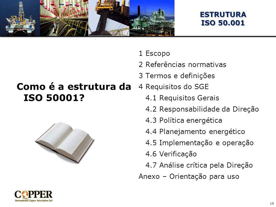 Como é a estrutura da ISO 50001.