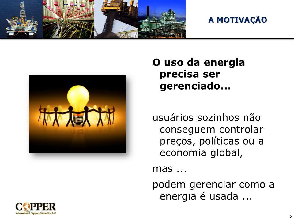O uso da energia precisa ser gerenciado...