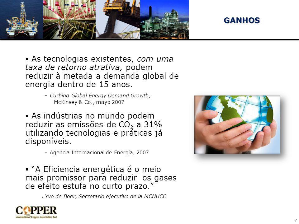  As tecnologias existentes, com uma taxa de retorno atrativa, podem reduzir à metada a demanda global de energia dentro de 15 anos.