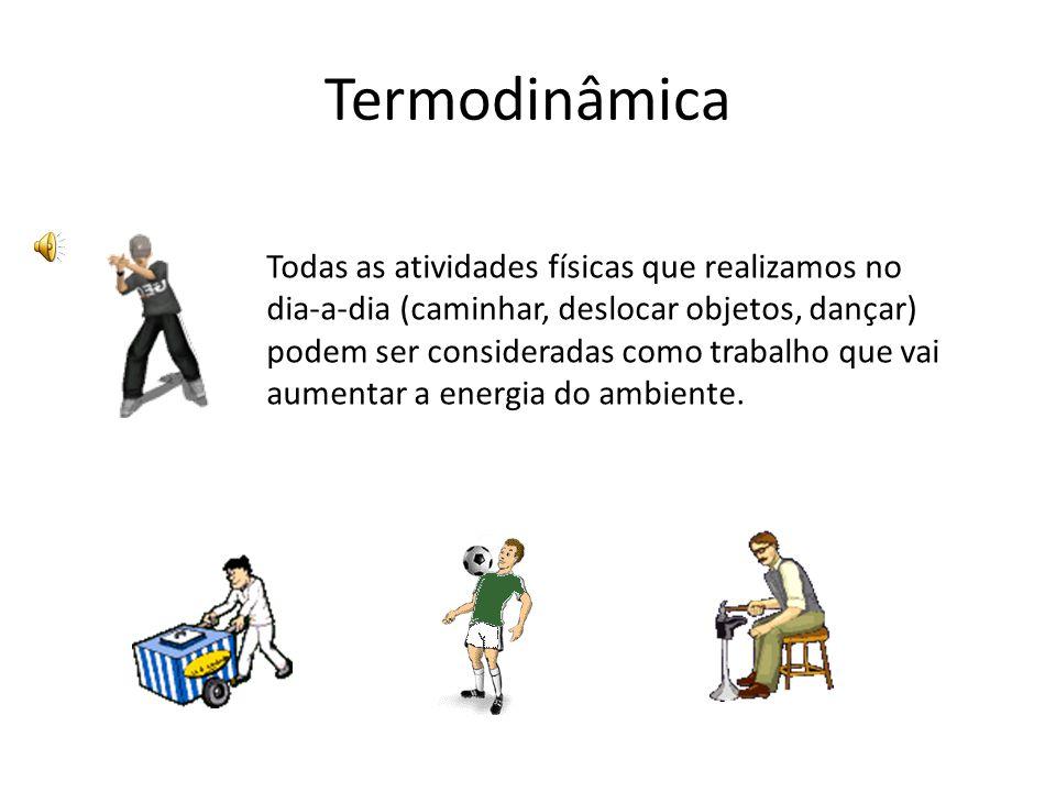 Todas as atividades físicas que realizamos no dia-a-dia (caminhar, deslocar objetos, dançar) podem ser consideradas como trabalho que vai aumentar a e