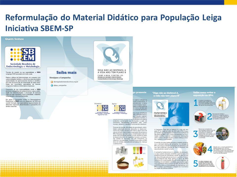 Reformulação do Material Didático para População Leiga Iniciativa SBEM-SP