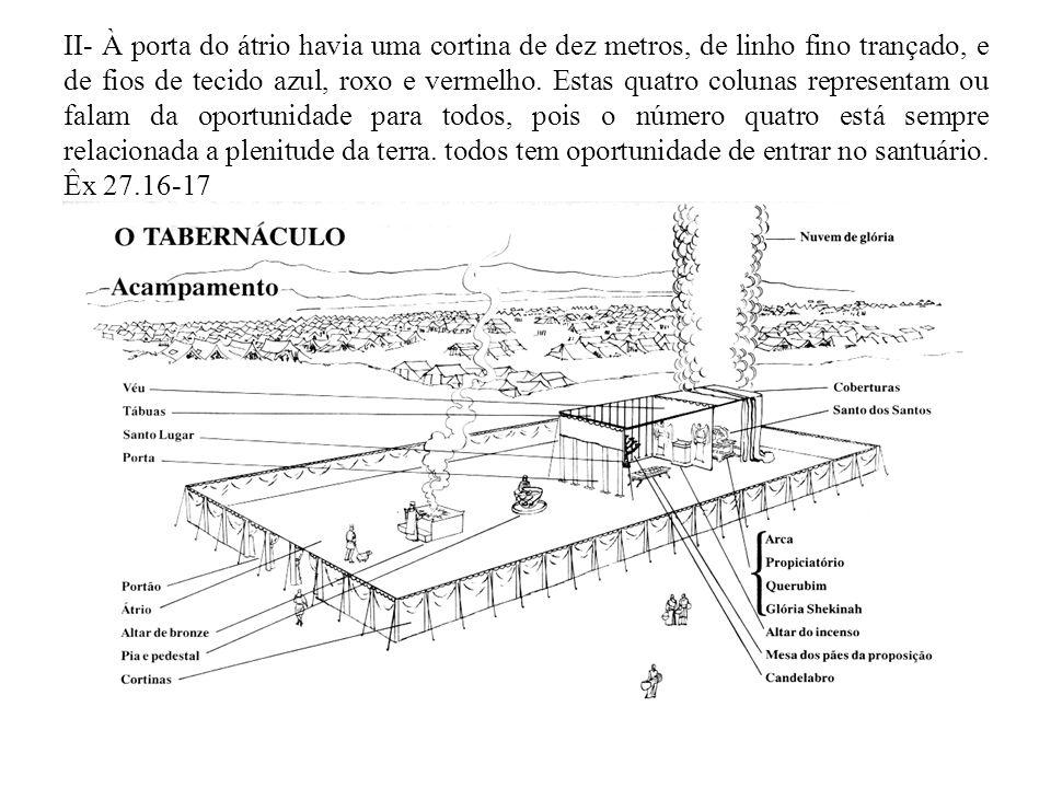 OS METAIS DO TABERNÁCULO I – BRONZE 1) As colunas e suas bases eram de bronze, o altar de sacrifícios era revestido de bronze, bem como todos os cravos.