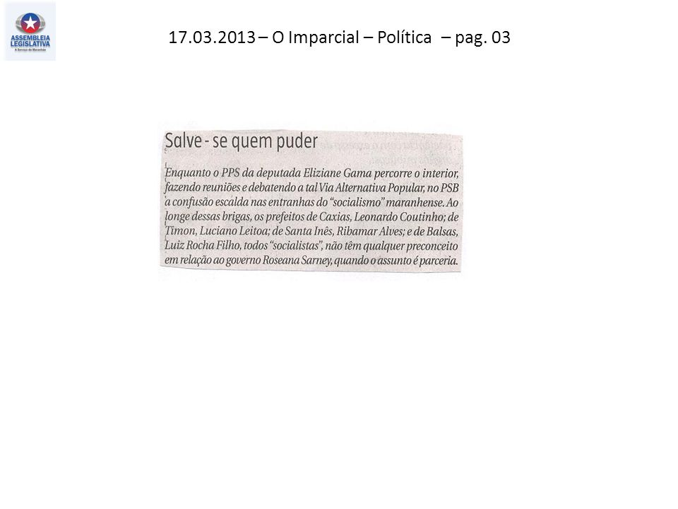 17.03.2013 – O Imparcial – Política – pag. 03