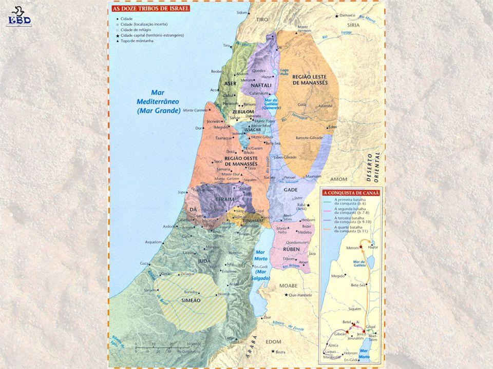 1º Juiz: Otniel As tribos do sul de Israel eram mais unidas que o norte, por isso Otniel, herói de Judá, conseguiu reuni-las e expulsar os invasores.