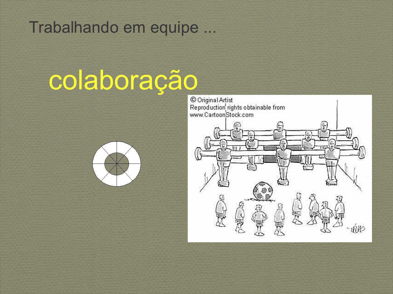 Trabalhando em equipe... colaboração