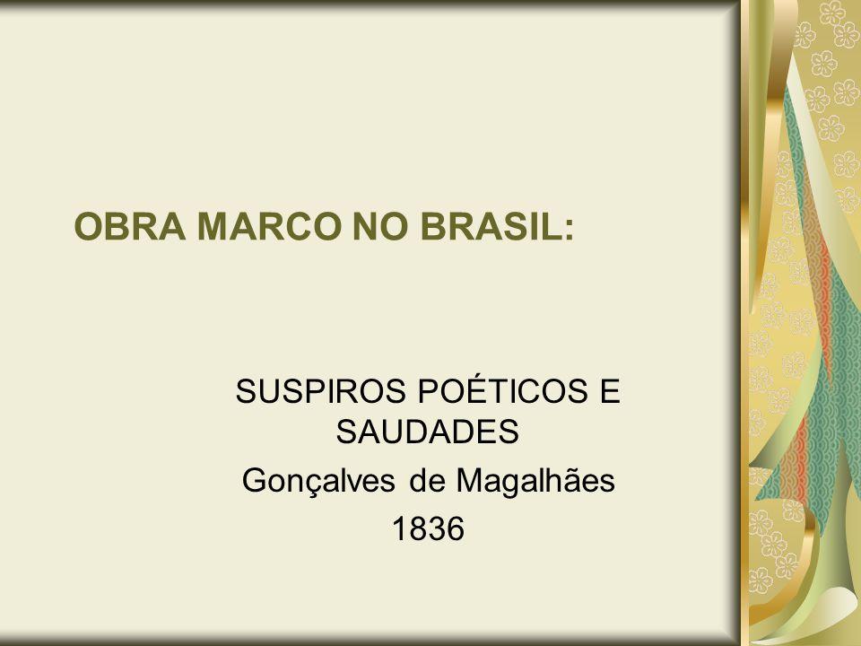OBRA MARCO NO BRASIL: SUSPIROS POÉTICOS E SAUDADES Gonçalves de Magalhães 1836