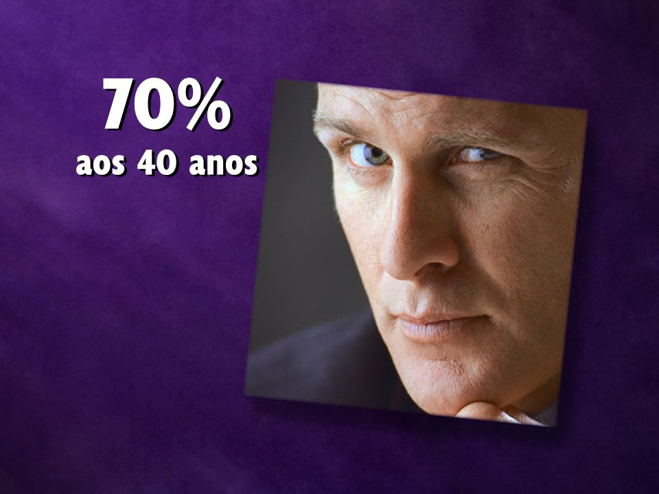 70% aos 40 anos