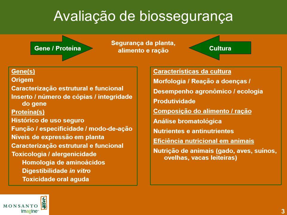 14 Resumo: Milho NK603 e Milho MON 810 A biotecnologia é uma tecnologia limpa que auxilia a produção agrícola mais sustentável 2005: a utilização da biotecnologia na agricultura possibilitou a redução de emissão de CO 2 através da redução de combustíveis e seqüestro de carbono equivalente a retirar de circulação 4 milhões de veículos Redução significativa de agrotóxicos na cultura do milho - Redução de ~ 44 milhões Kg inseticidas e herbicidas Histórico de uso seguro das proteínas CP4 EPSPS e Cry1Ab Os milhos NK603 e MON 810 são tão seguros e nutritivos quanto o milho convencional