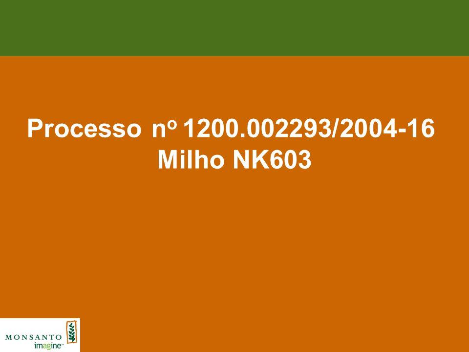 Processo n o 1200.002293/2004-16 Milho NK603
