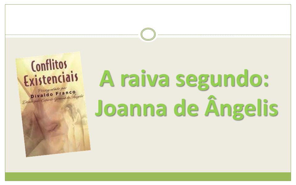 A raiva segundo: Joanna de Ângelis Joanna de Ângelis