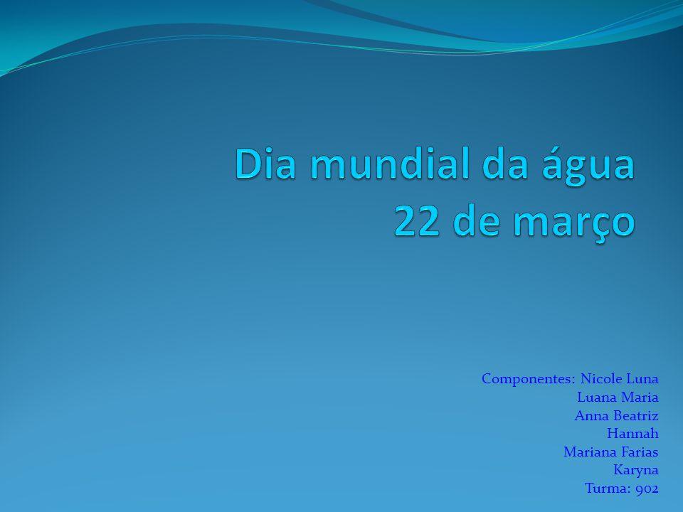 Componentes: Nicole Luna Luana Maria Anna Beatriz Hannah Mariana Farias Karyna Turma: 902
