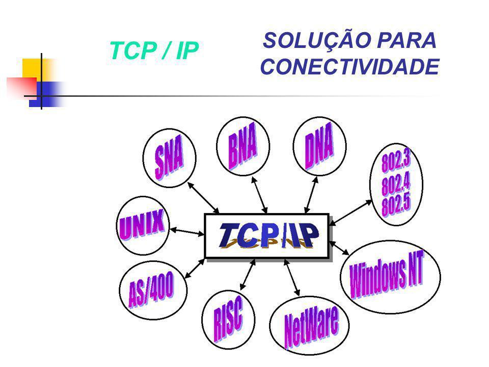 TCP / IP SOLUÇÃO PARA CONECTIVIDADE