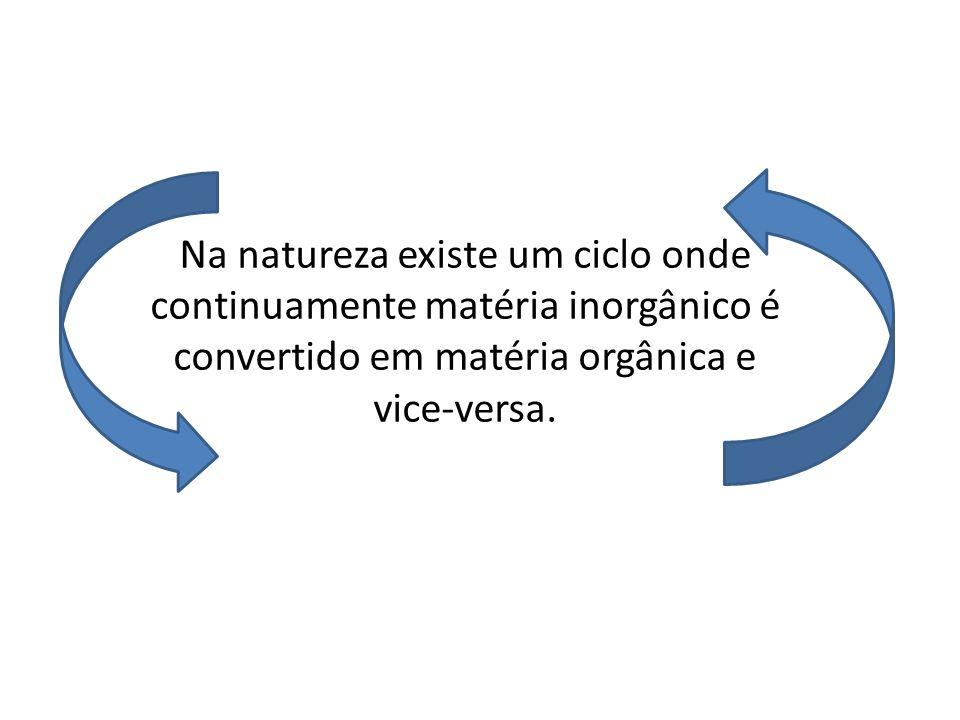 Na natureza existe um ciclo onde continuamente matéria inorgânico é convertido em matéria orgânica e vice-versa.