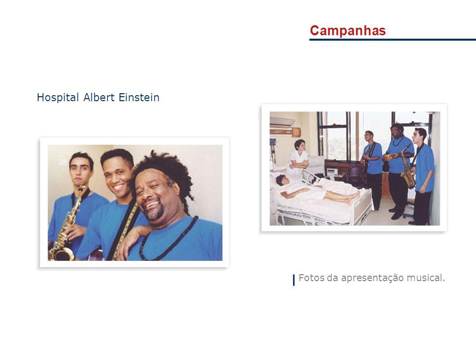 Campanhas Fotos da apresentação musical. Hospital Albert Einstein