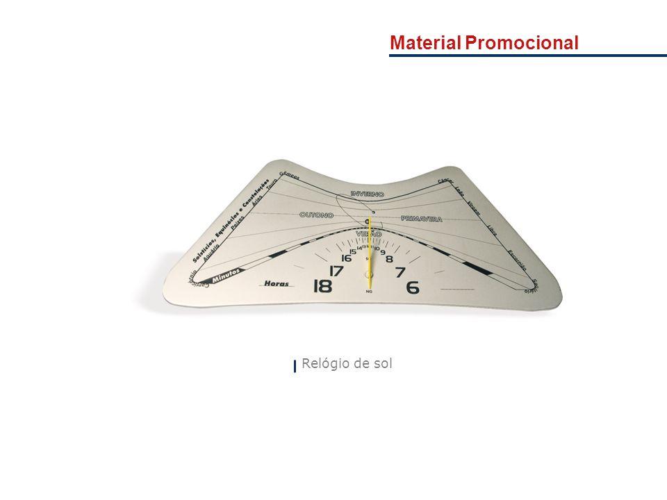 Material Promocional Relógio de sol